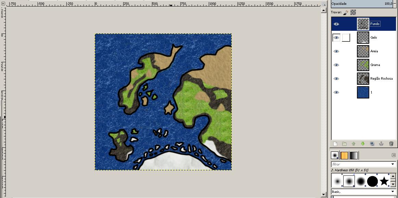 Criando Mapas de RPG no Gimp