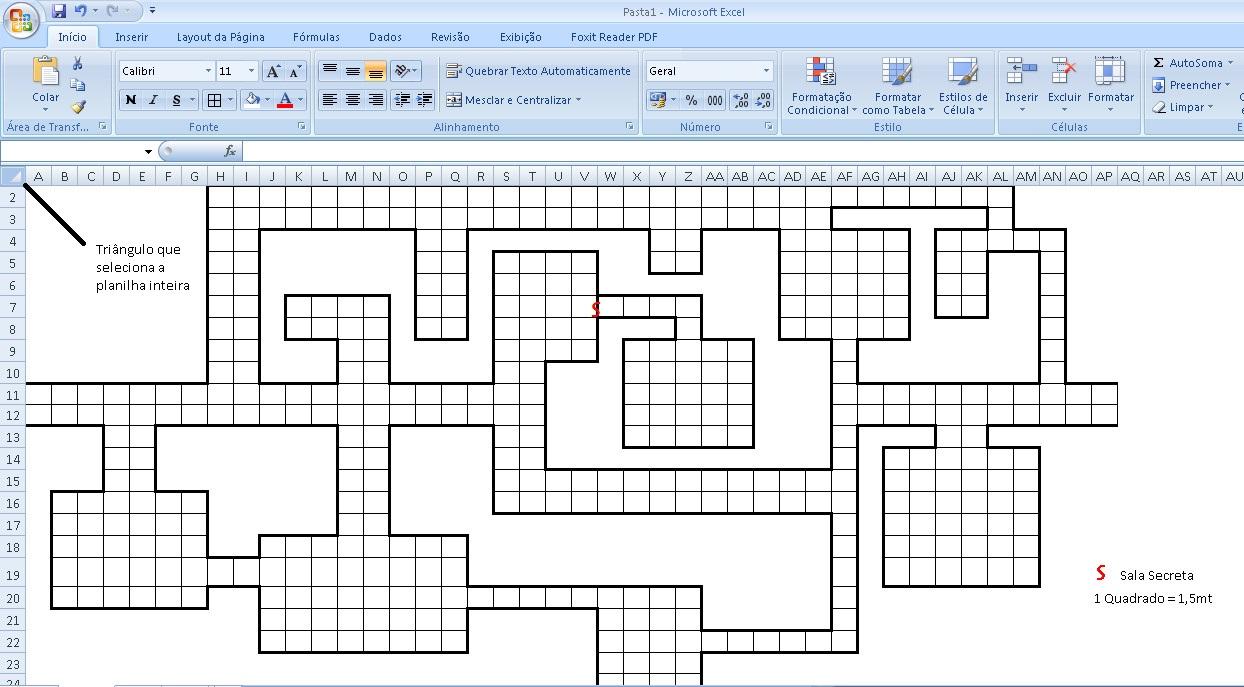 Criando mapas no Excel