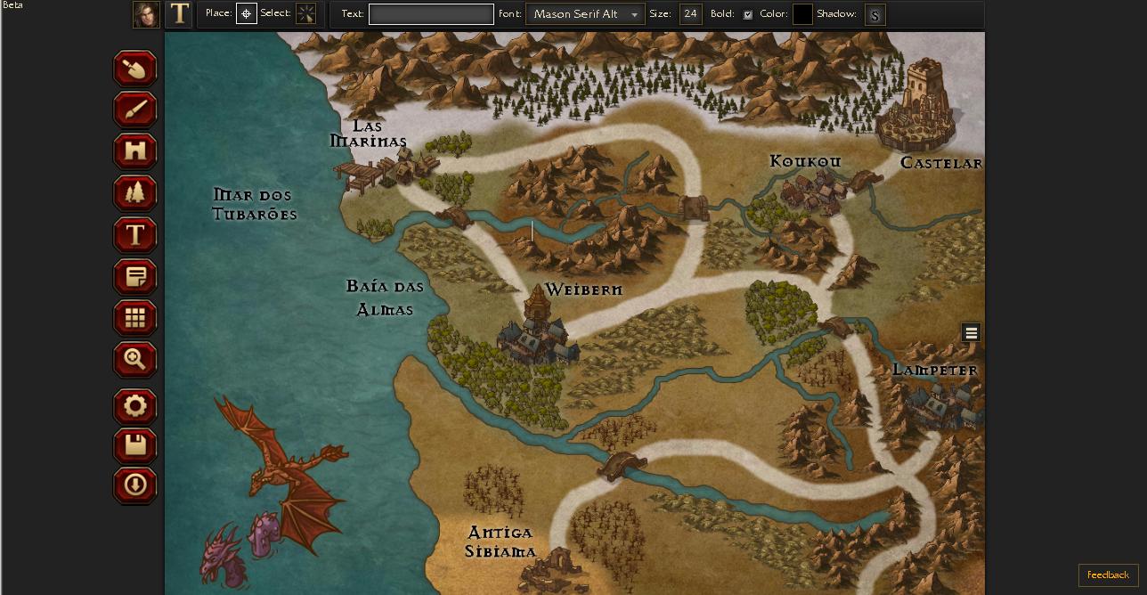 Criação de mapas no Inkarnate