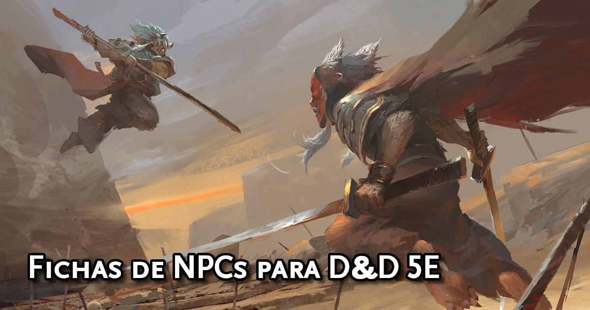 Fichas de NPCs para D&D 5ª Edição