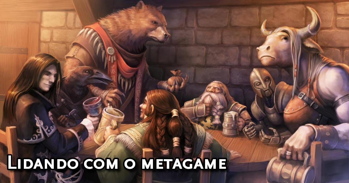 Jogadores realizando metagame