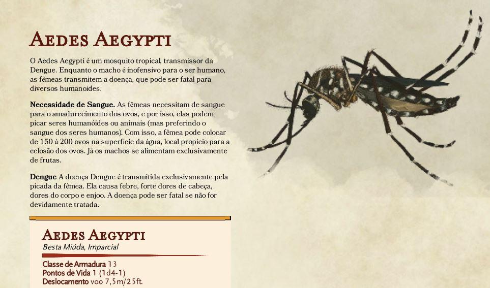 Ficha Aedes Aegypti D&D 5E
