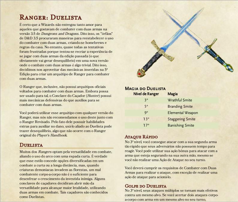 Arquétipo de Duelista para D&D 5ª Edição