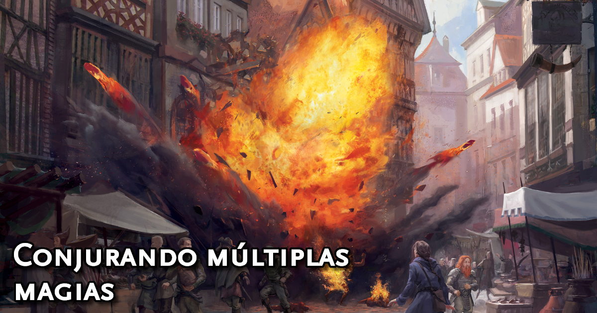 Conjurando Múltiplas Magias em D&D 5ª Edição