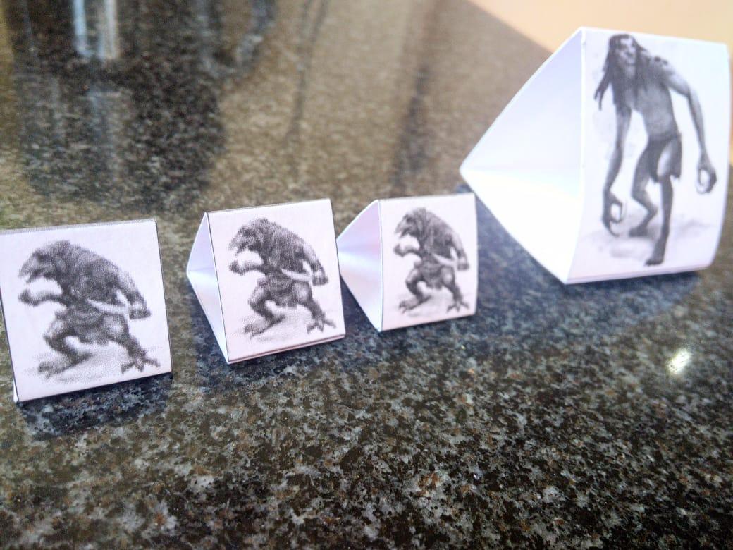 Como fazer miniaturas de papel para RPG de mesa