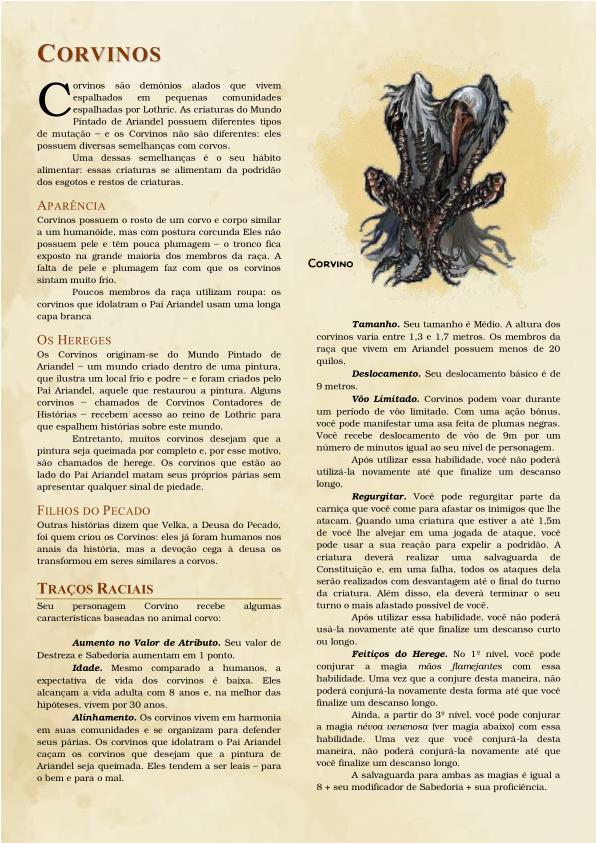 Raças de Dark Souls para D&D