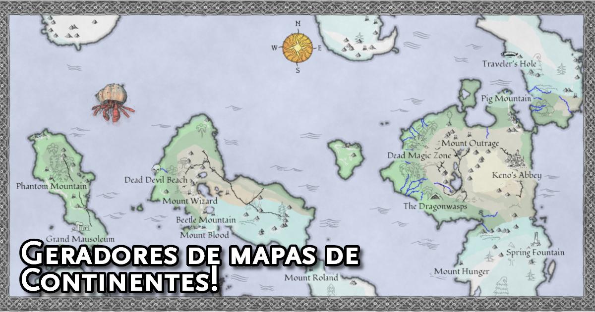 Geradores de Mapas de Continente RPG