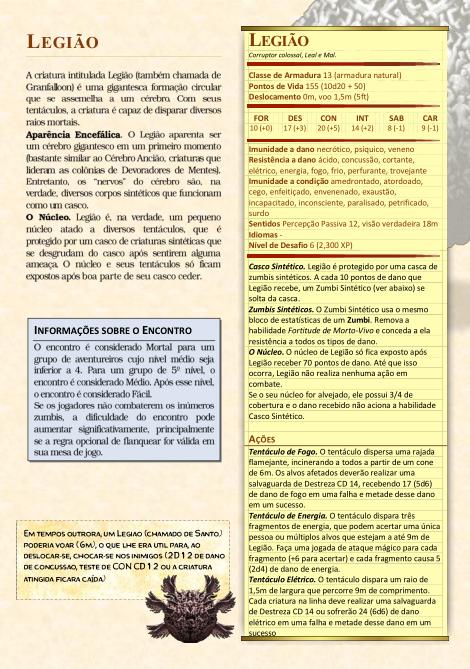 Legião (Castlevania) para D&D 5ª Edição