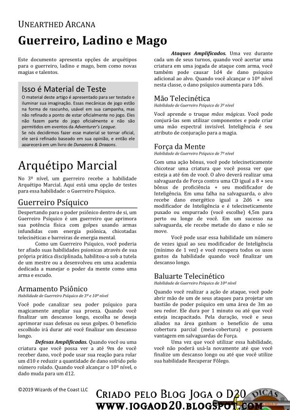 UA Fighter, Rogue and Wizard traduzida