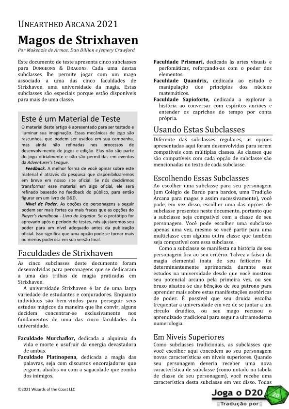 UA Mages of Strixhaven Traduzida