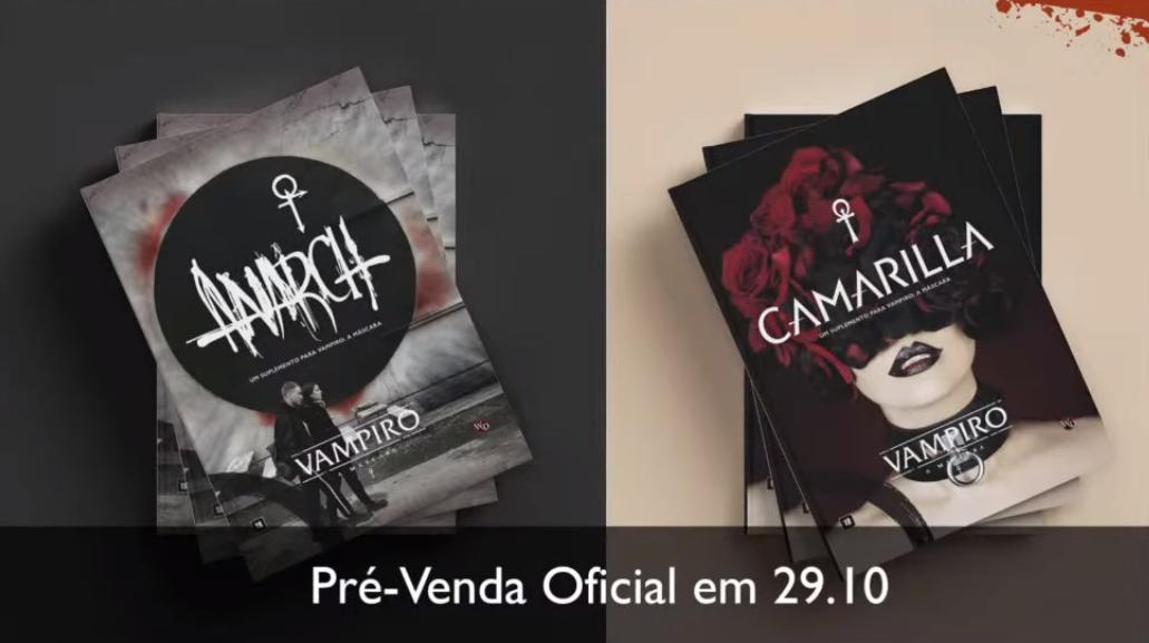 Pré-Venda Anarch e Camarilla Vampiro V5